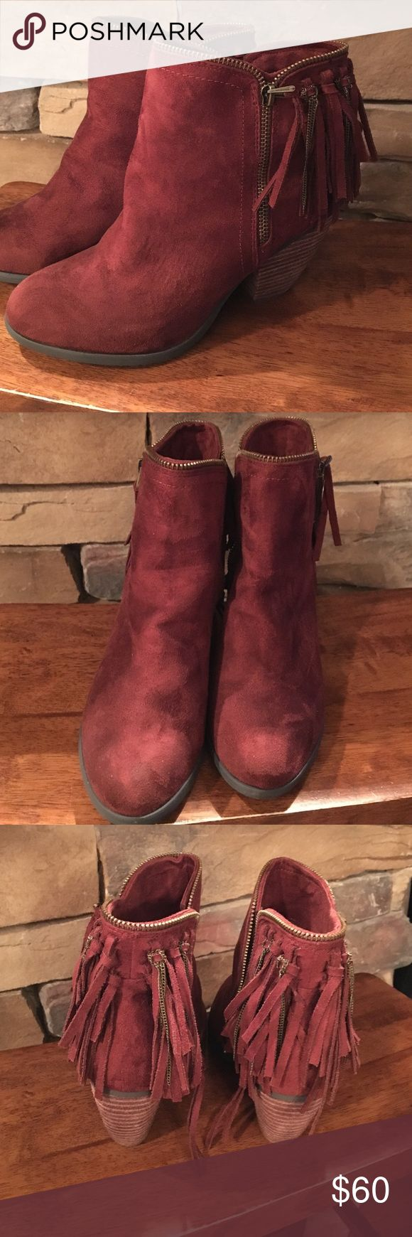 Not rated boots Not rated boots. Women's size 8. Reddish  brown color. Wore once Not Rated Shoes Ankle Boots & Booties