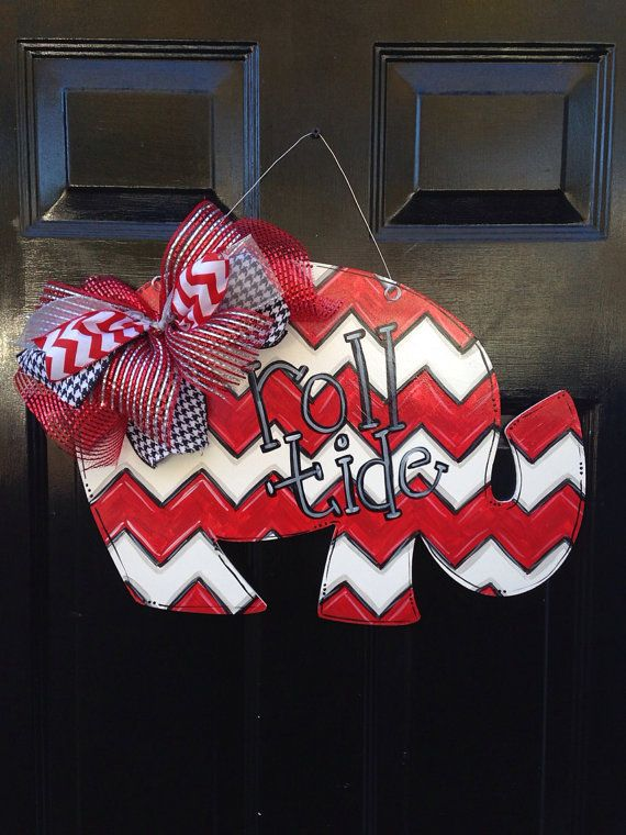 Roll Tide Alabama Elephant Door hanger on Etsy, $30.00