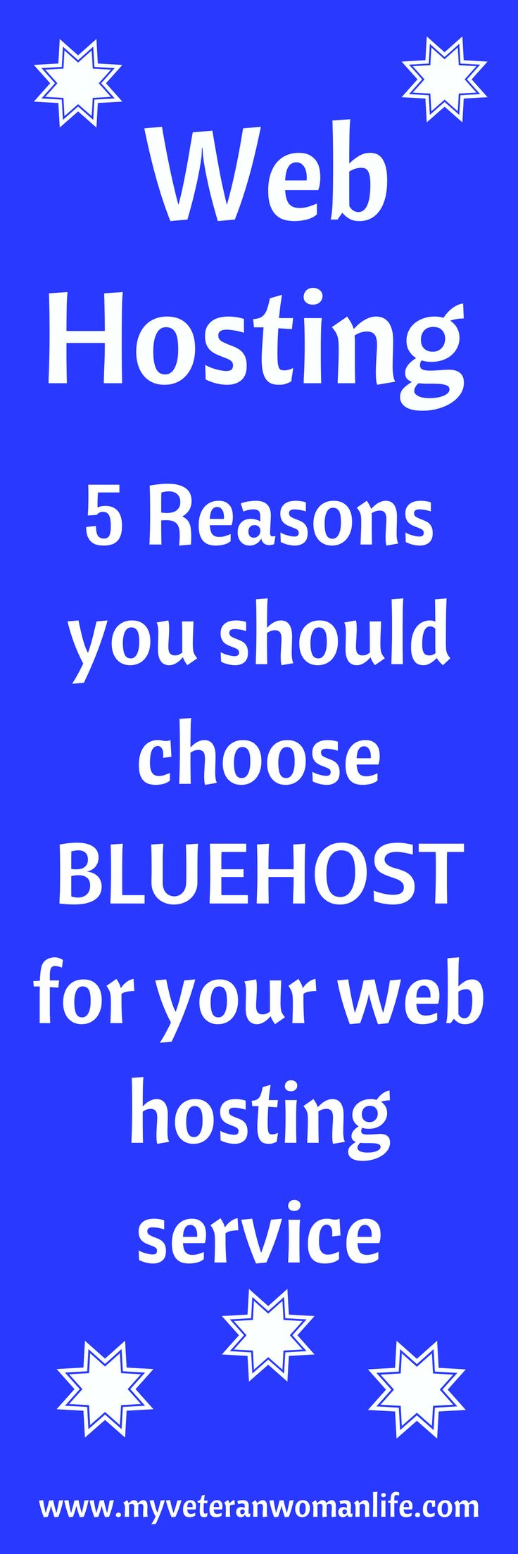 It is important to choose a great web hosting service for your blog.  Bluehost is recommended by Wordpress as a top web hosting service for Wordpress blogs.  Here are five reasons that you should choose Bluehost for your web hosting service.