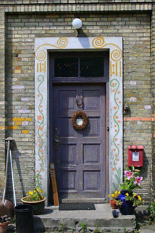 Door in Christiania, the separatist community located in the middle of Copenhagen.