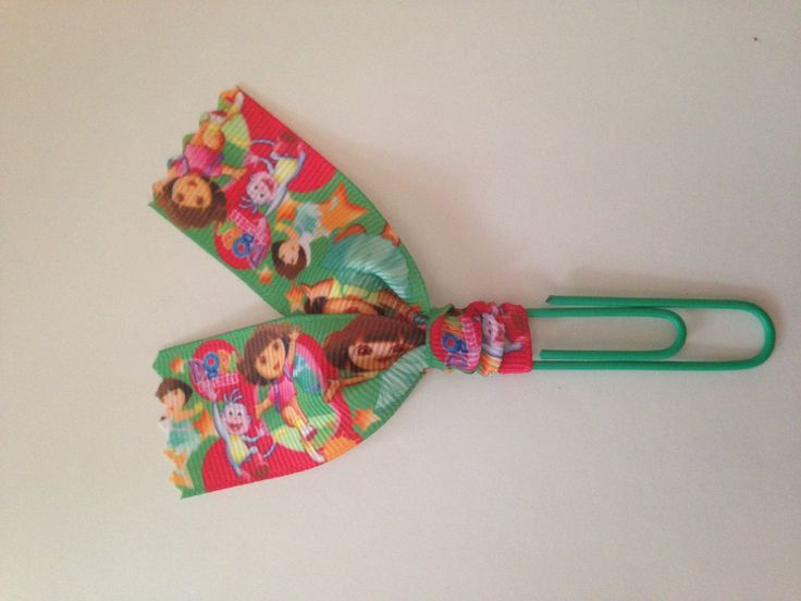 Ribbon Paper Clip for Planners, Journals, Organizing, Paperwork Bookmarks: Dora the Explorer Nick Jr Hola Adios Amigos Educational by MamaSellsStuff on Etsy