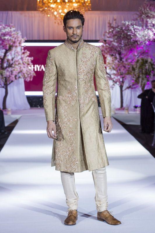 Shyamal Bhumika @ Bibi London on the catwalk at THINK PINK fashion show #sherwani