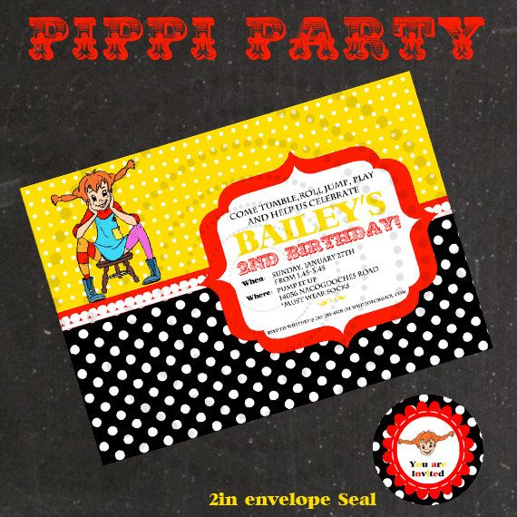 Pippi Invitation