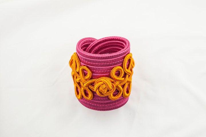 Haute Couture spirit bangle Bicolor Peony Pink/Mandarin - EmKha
