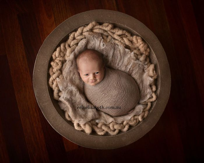 Нэйт, 10 дней. Фотограф Эрин Элизабет специализируется на съемках новорожденных.