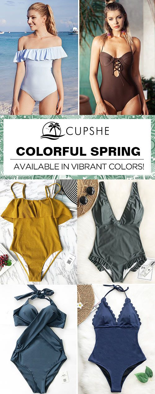 Turn heads at the beach, by the poolor on the boat with bold, solid-colored swimsuits from Cupshe. Our wide selection of colors offers something for everyone! Put on one of our bikinis, and you'll shine brighter than anyone else~