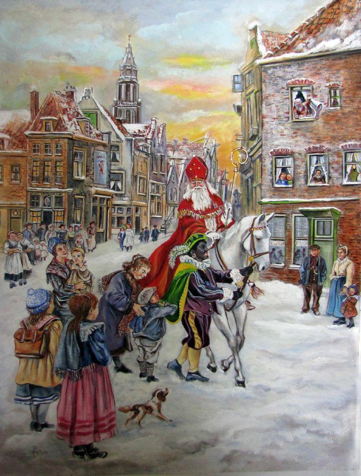 Sinterklaasschilderij, Hans Pieters