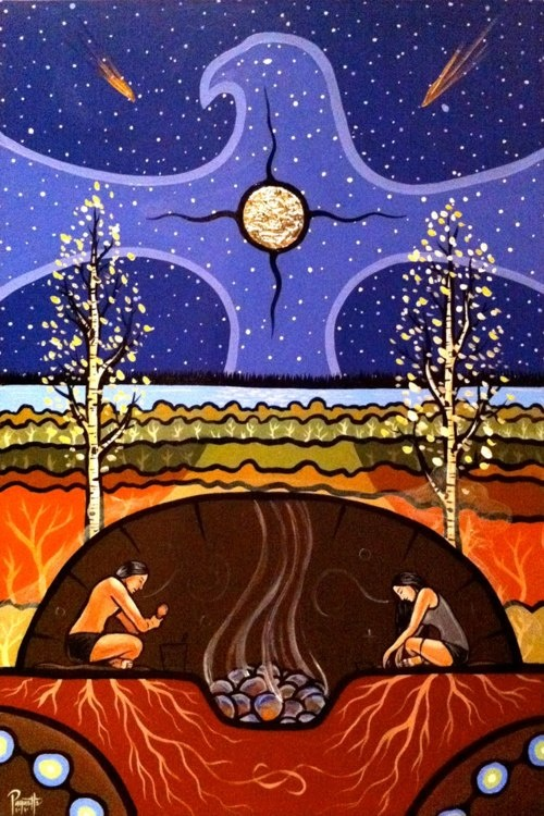 Teachings of the Sweat Lodge in an artistic form; what brings you a sense of connection?