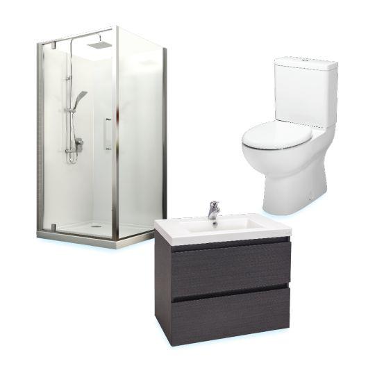 Milano Bathroom Packages: Shower+Vanity+Toilet