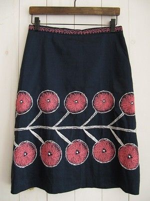 I'd love to take a plain skirt I have and embellish it with a bold pattern. skirt by mina perhonen