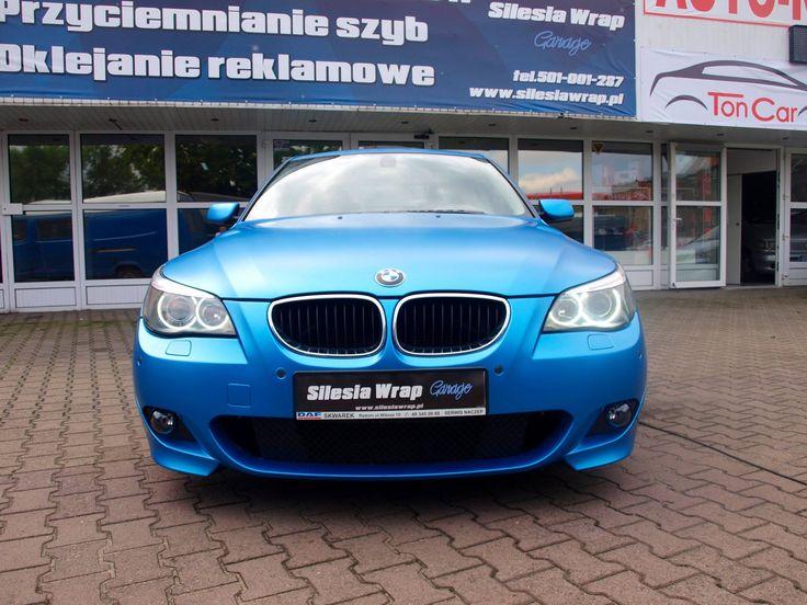 Silesia Wrap Garage  BMW e60 Matte Azure Blue Metallic. Oklejanie samochodów Katowice