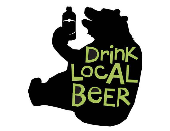 Drink Vermont Beer Drink local beer Bumper Stickers with black