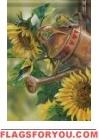 Sunflower Watering Garden Flag