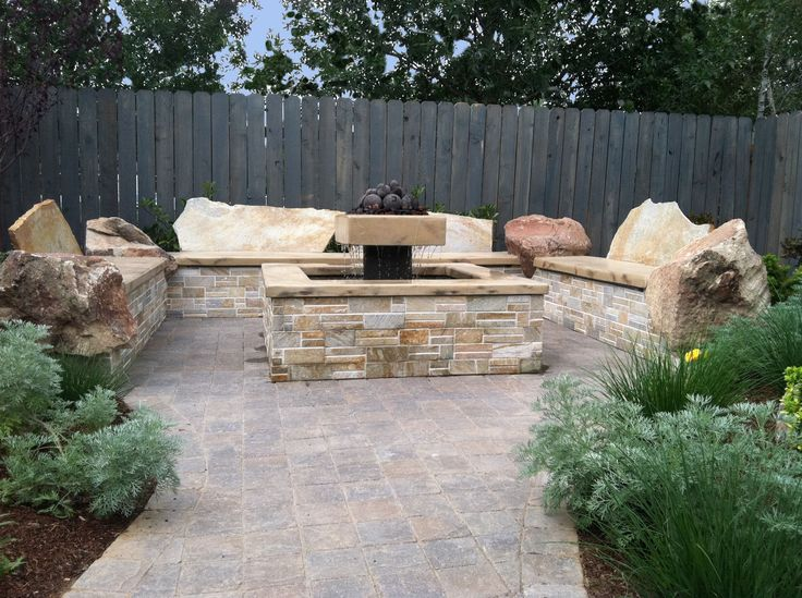57 best images about fire pit ideas on pinterest fall for Fire pit water feature combo