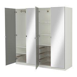 PAX Garderob med inredning - mjukstängande gångjärn - IKEA