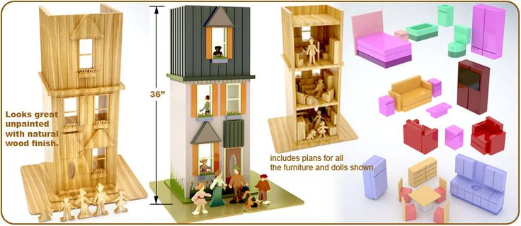 My First Doll House Full Size Wood Toy Plan Set