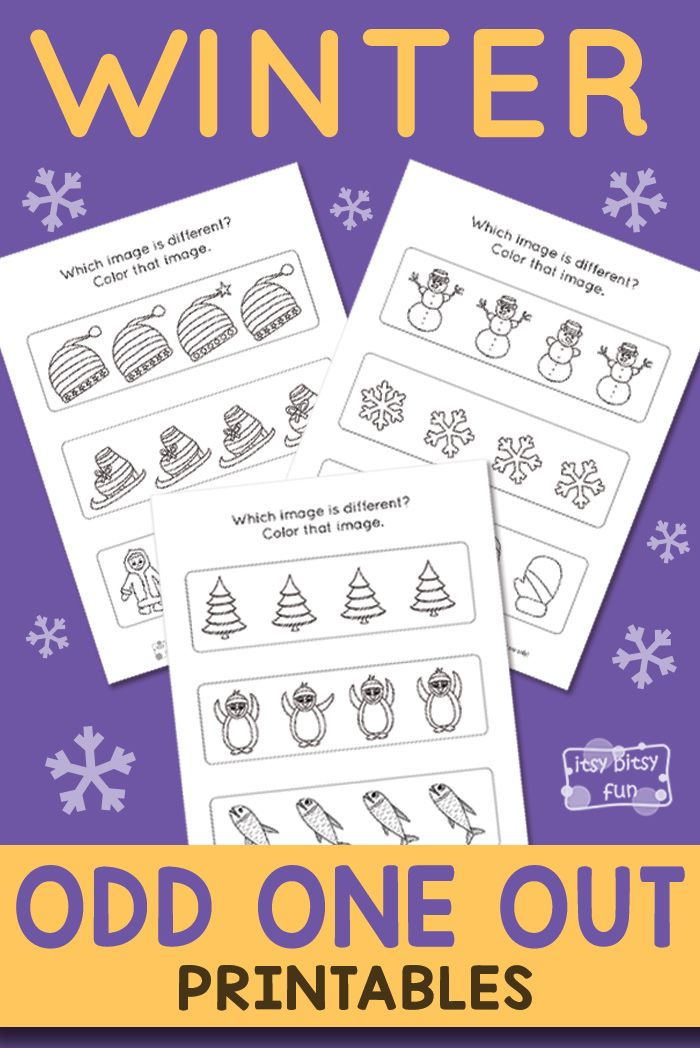 Odd One Out Worksheets For Kids Printable