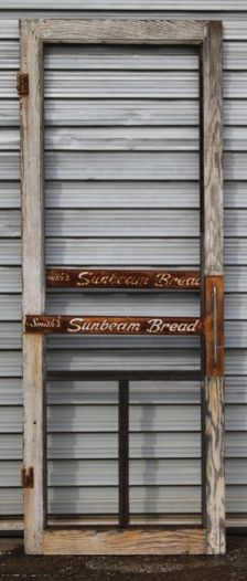 Vintage Sunbeam Bread Screen Door, Which Was Salvaged From An Old General  Store.