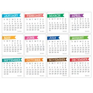 2013 Chic Calendars - brights :: 2013 Calendars :: By Collection :: Elle's Studio Tags :: Elle's Studio