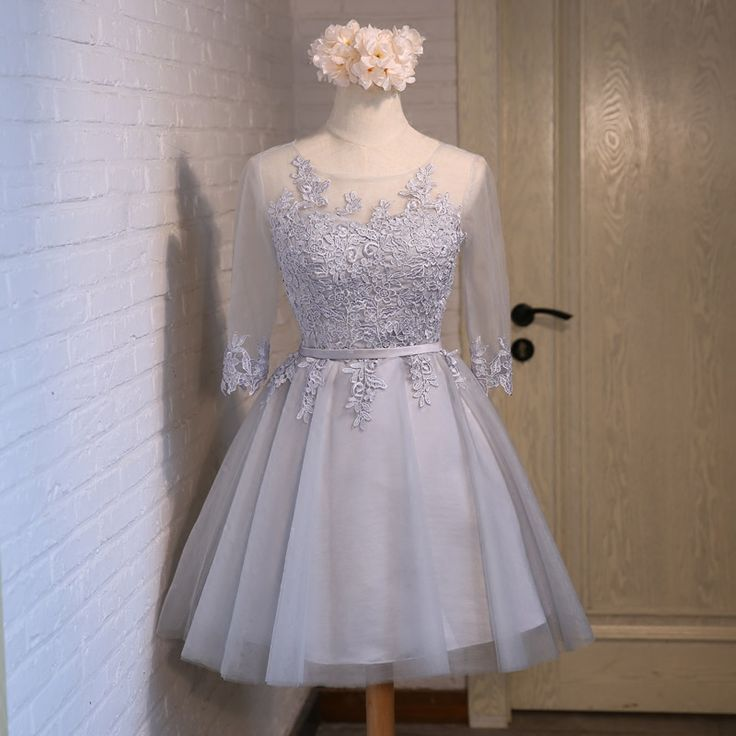 Real Picture,Prom Dresses,Short Prom Dress,Bridesmaid Dresses,Tulle,Scalloped,Evening Dresses,Women Dresses,Wedding