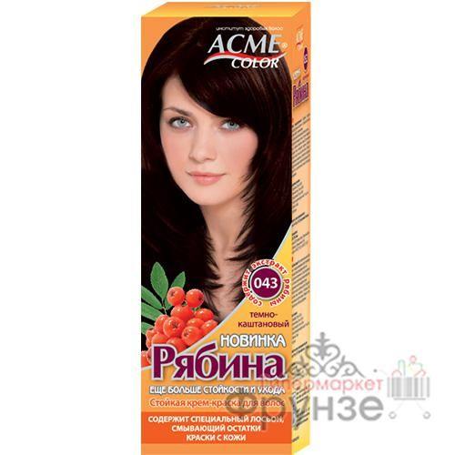 Краска для волос Acme Color Рябина New №043 Темно-каштановый
