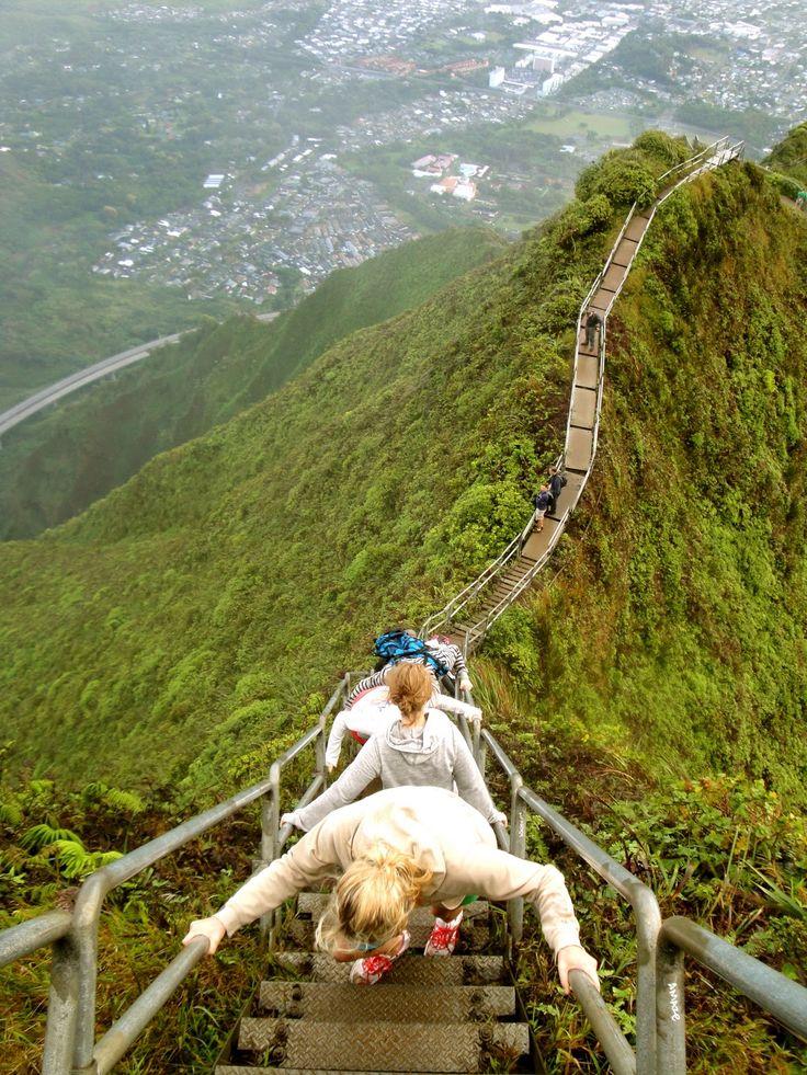 """Stairway to Heaven""  Oahu, Hawaii. Woo hoo!!! Trip to Hawaii after school :)"