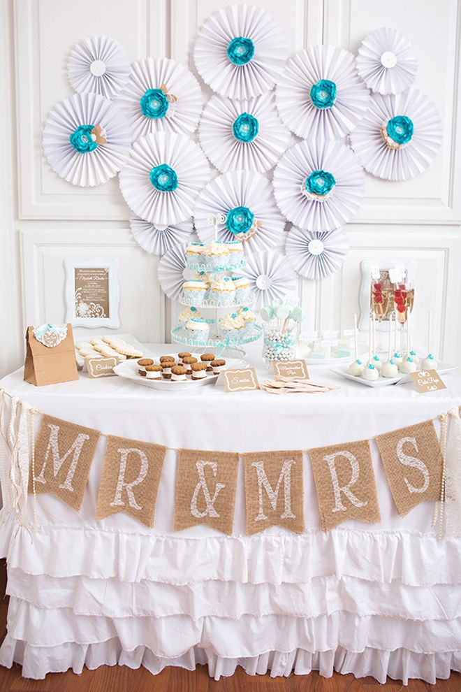 A beautiful 'Lace & Pearls' themed bridal shower photos & inspiration! - Red, White, Black, and silver colors tho