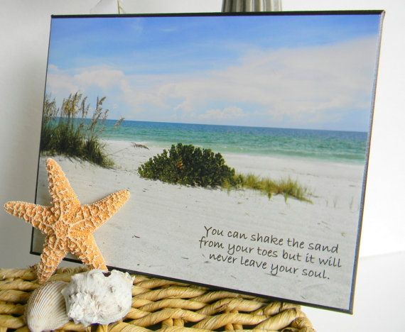 Beach Decor. Inspirational Quote. Beach By