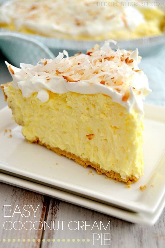 This No-Bake Easy Coconut Cream Pie is a classic recipe you must try! Creamy light fluffy and coconutty it tastes like it's made from scratch without all the effort.