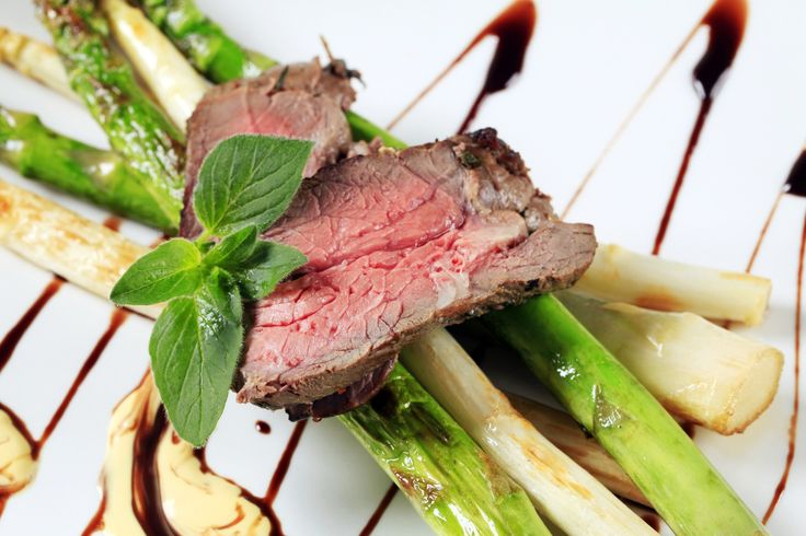Wasabi Edamame Grilled Steak with Stir-Fried Asparagus