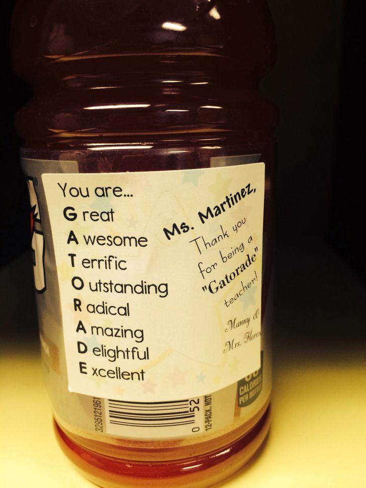 gatorade teacher gift betuchas creations pinterest