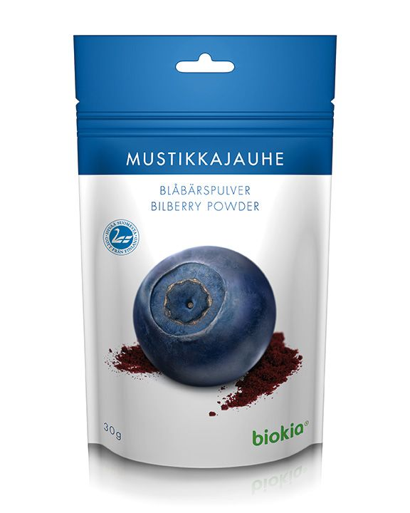 100% pure, natural bilberry powder. An antioxidant powerhouse. 3 times the antioxidants of goji berry! highly concentrated, equal to approximately 270g of fresh bilberries.