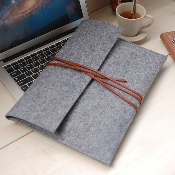 "Felt 13"" MacBook Air Case Felt macbook case MacBook pro sleeve -macbook case macbook sleeve, Laptop bag for 13in macbook--608"