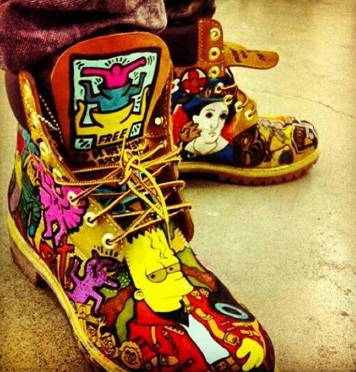 Custom Timberland boots worn by Swizz Beatz.