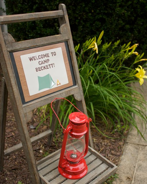 Great sign to welcome guests! #birthday #party #camping