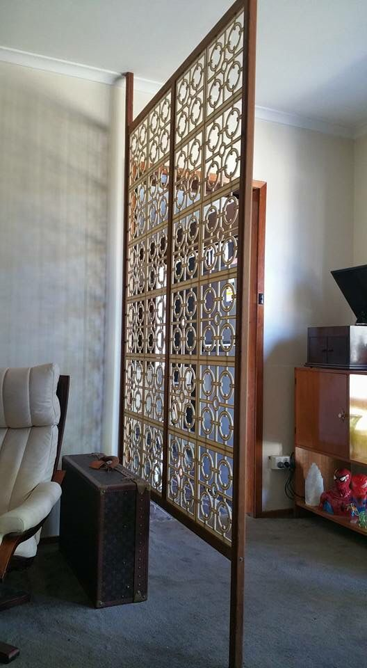 Tension pole screen  MidCentury Room Dividers in 2019