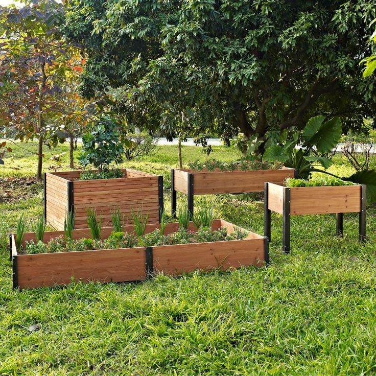 Coral Coast Bloomfield Wood Elevated Garden Bed - 70L x 24D x 29H in. - Raised Bed & Container Gardening at Hayneedle