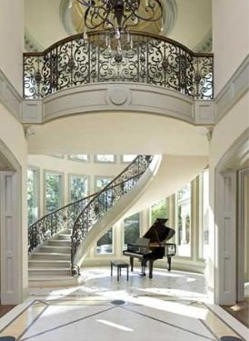 656 best Entries Stairs and Foyers images on Pinterest Stairs