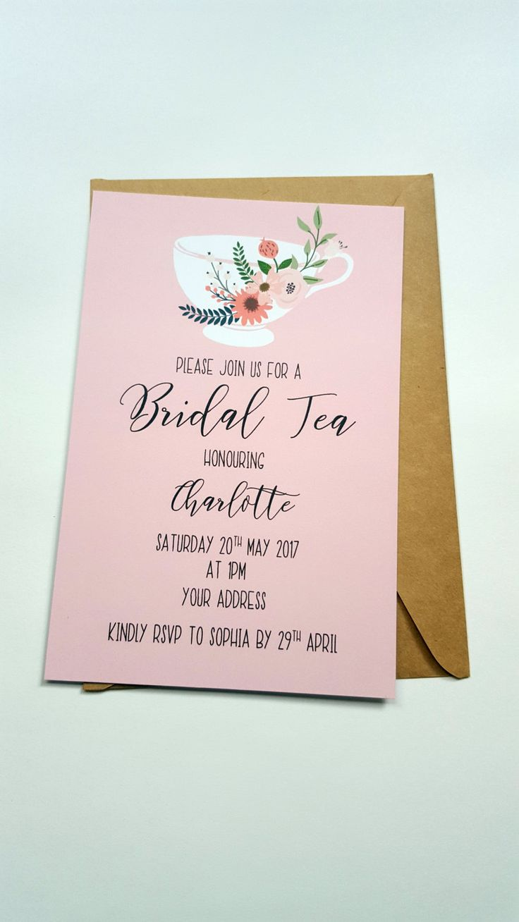 tea invitation bridal tea party kitchen tea invitation bridal tea