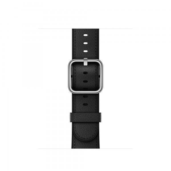 Apple Klassisches Lederarmband für 42mm Apple Watch schwarz