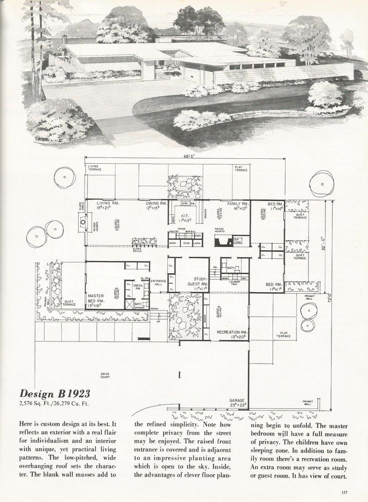 Mid century modern a collection of ideas to try about for Mid century modern ranch house plans