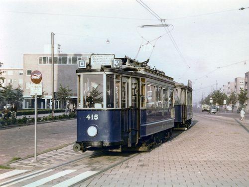 GVB Amsterdam 415, Lijn 13, Bos en Lommerplein (1963)