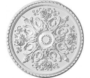 Takrosett Sekelskifte 7004 i polyuretan. Diameter 82 cm. Välkommen till Sekelskifte och vår stuckatur i klassisk stil!