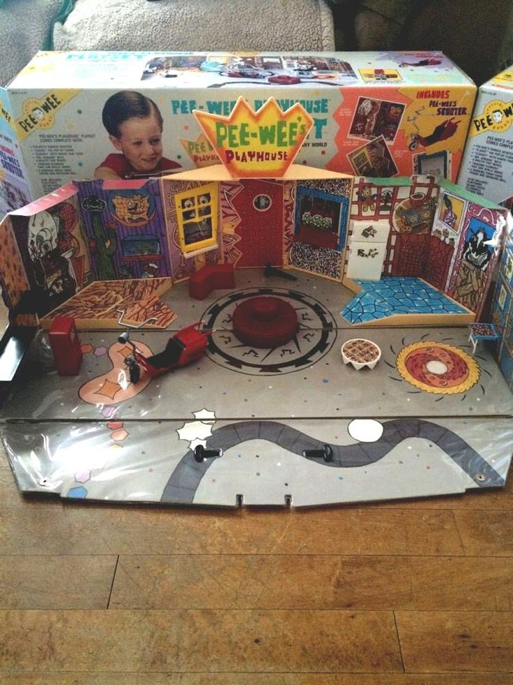 Pee Wee's Playhouse Play Set With Pee Wee Herman Figure #vintage 80's from $120.0