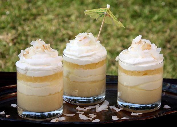 Kokosovo-ananásový pohár - recept