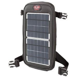 I'm thinking a solar charger on my backpack would be useful.