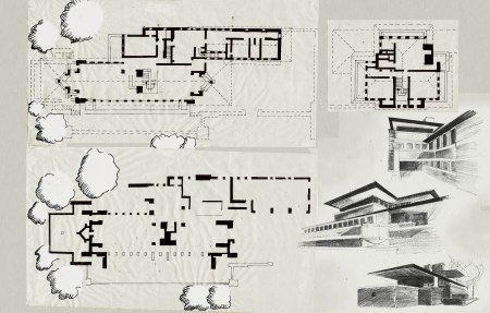 Les 25 meilleures id es concernant robie house sur for House plans usa