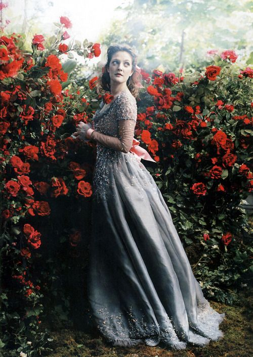 """Drew Barrymore as Belle in """"Beauty and the Beast"""" - Annie Leibovitz for Vogue (2005)"""