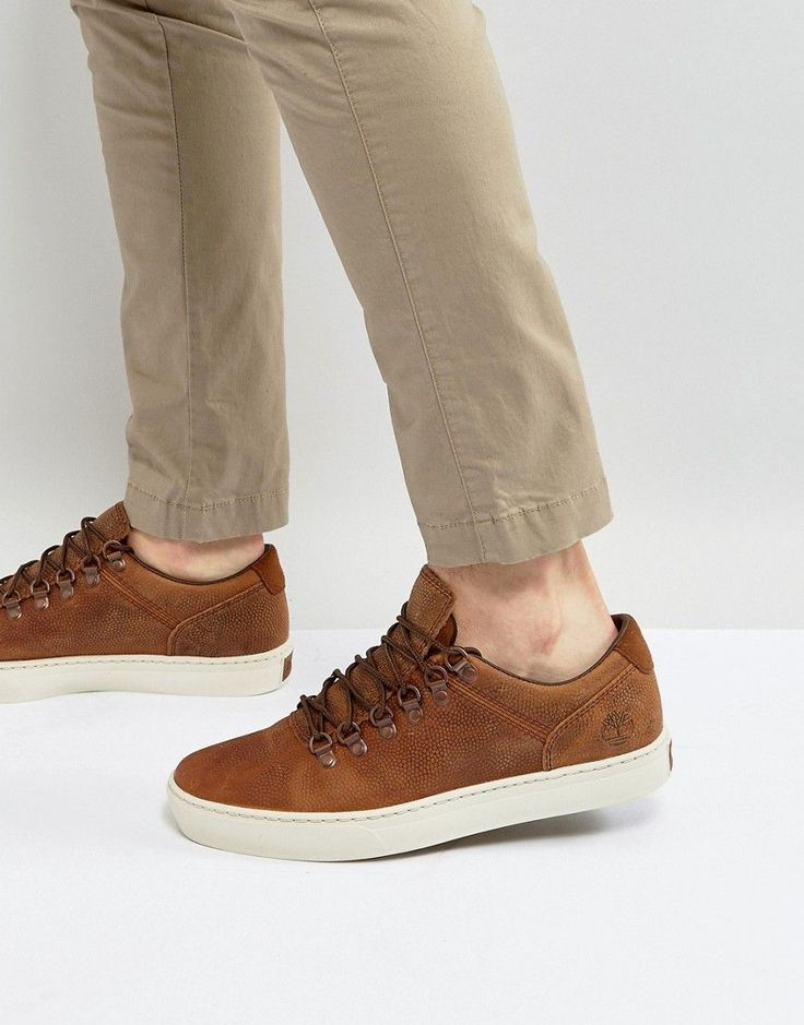 TIMBERLAND ADVENTURE CUPSOLE ALPINE SNEAKERS - BROWN. #timberland #shoes #