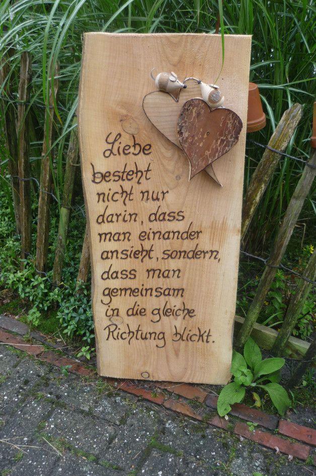 Ein besinnliches Zitat passend zur Verlobung, Hochzeit, Hölzerne ...